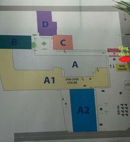 sơ đồ phân khu bệnh viện phụ sản MêKông