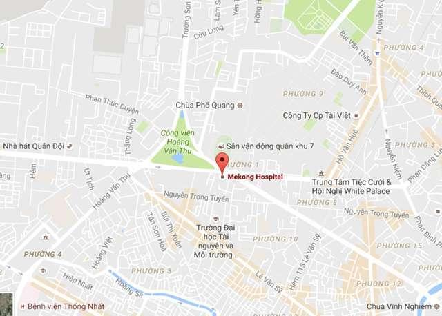 vị trí bệnh viện phụ sản MêKông