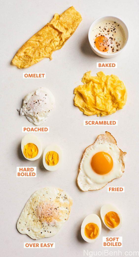 Cách chế biến một số loại trứng