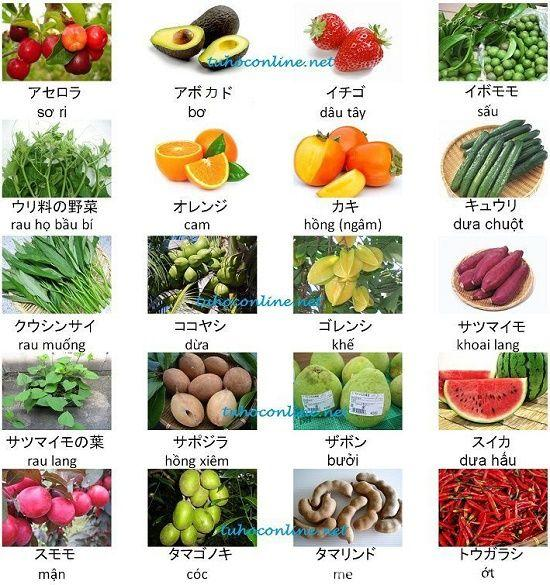 Thực phẩm trái cây rau củ quả