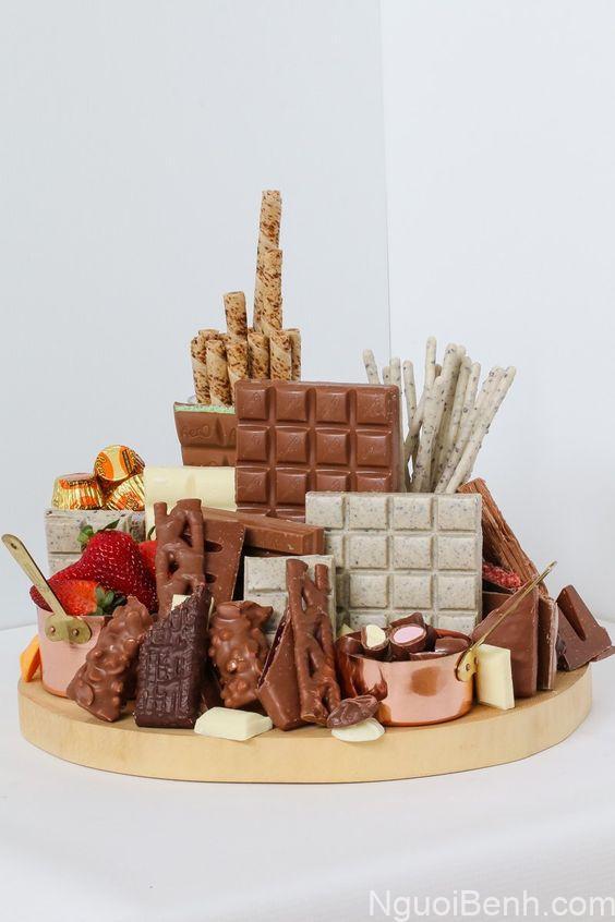 Trong chocolate chứa rất nhiều chất đạm